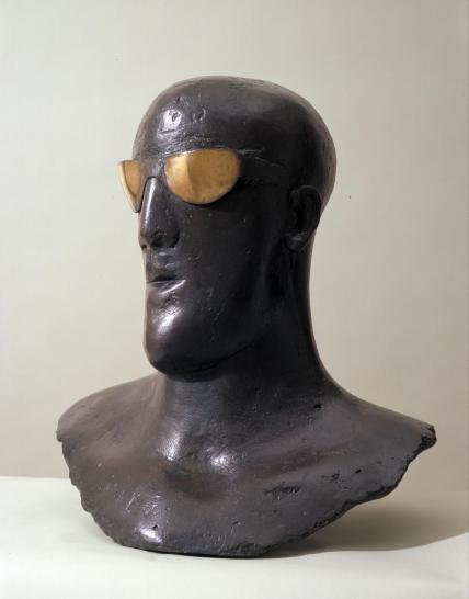Goggle Head 1969 by Dame Elisabeth Frink 1930-1993